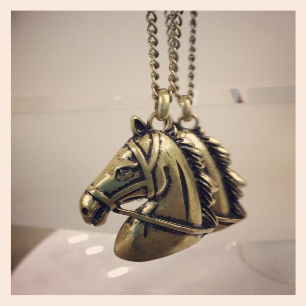 Spotted: Horse Head Necklace from Old Navy