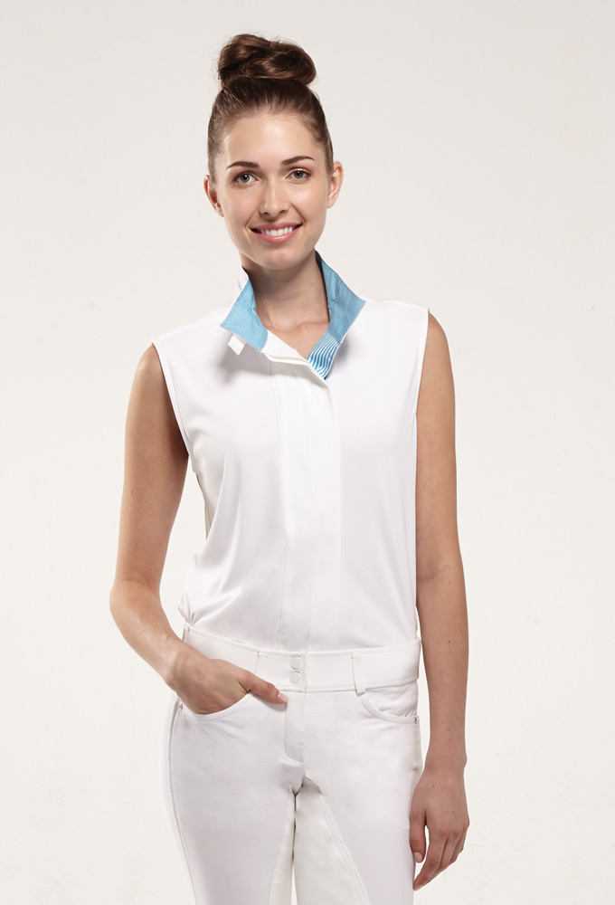 Ella front open collar blue lining