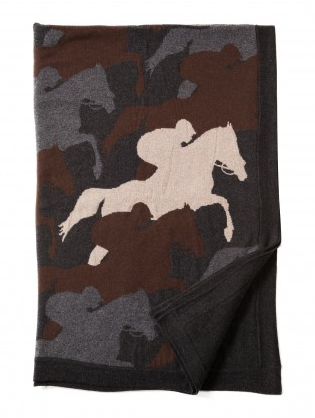 cantering horse throw